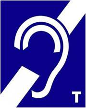 pictogramme oreille barrée avec T